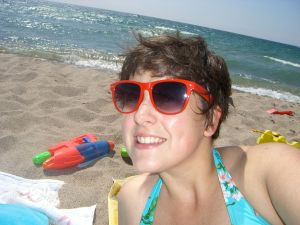 This is me at the 9th concession beach two years ago. I hope to do a lot of this next month.