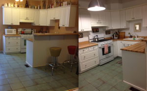 Kitchen before and after.