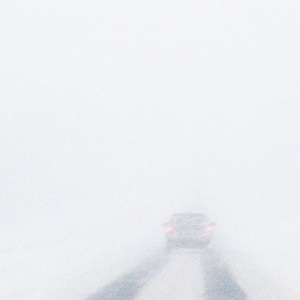 The crappy side of winter. Driving in this.