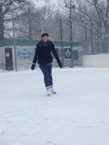 Mireille, my skating buddy.