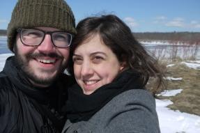 JF and I at Tiny Marsh