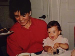 Mom and me, circa 1985