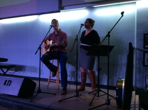 Greg and I, performing