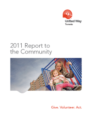 2011-2012 United Way Toronto Report to the Community