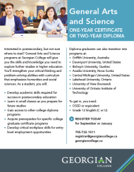 General Arts and Science program flyer