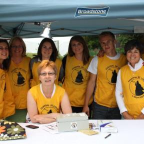 Some of the Festival's crew of volunteers