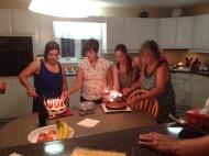 People I love, lighting my birthday cakes