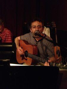 My dad, performing at a pub in Midland last year.