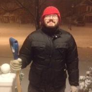 Downside of snow one: shovelling