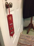 The jingle of bells as people walk into our home