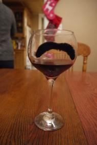 Mustachioed wine