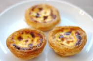 Here are the custard tarts.