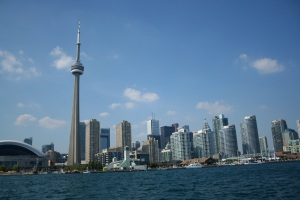 Toronto skyline from the ferry