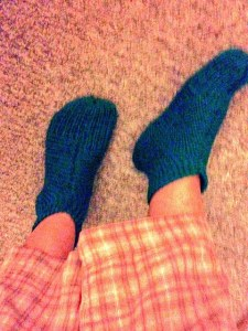 Slippers knit by my grandma = awesome