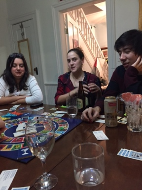 Rebelos doing what they do best - eating and playing games