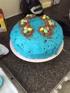 How could anyone NOT eat this adorable Easter cake made by my aunt Fina?