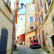 Streets of Motovun, in Croatia