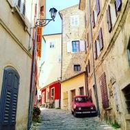 Streets of Motovun, in Croatia