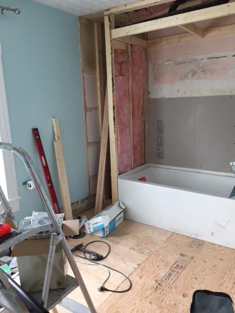 Bathroom reno in progress